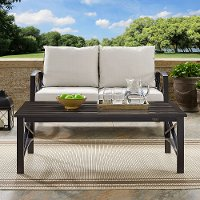 CO6207-BZ Oiled Bronze Outdoor Patio Coffee Table - Kaplan