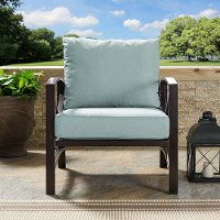 KO60007BZ-MI Oiled Bronze Outdoor Patio Arm Chair - Kaplan