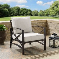 KO60007BZ-OL Oiled Bronze Outdoor Patio Arm Chair - Kaplan