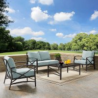 KO60009BZ-MI 4 Piece Mist Gray Outdoor Patio Seating Set - Kaplan