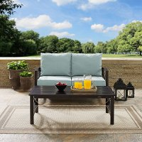 KO60010BZ-MI Mist Gray 2 Piece Outdoor Patio Furniture Set - Kaplan