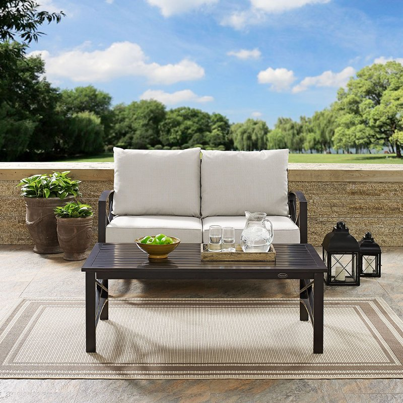 2 piece cream outdoor patio seating set   kaplan rcwilley image1~800