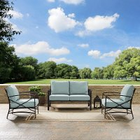 KO60011BZ-MI Mist Gray 3 Piece Outdoor Patio Furniture Set - Kaplan