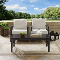 KO60012BZ-OL Cream 3 Piece Outdoor Patio Furniture Set - Kaplan