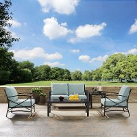 KO60015BZ-MI 5 Piece Mist Gray Outdoor Patio Seating Set - Kaplan