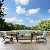 KO60017BZ-MI Mist Gray 6 Piece Outdoor Patio Furniture Set - Kaplan