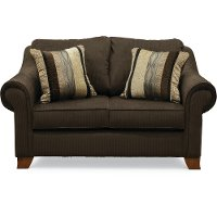 Casual Classic Chocolate Brown Loveseat - Rialto