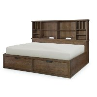 Rustic Brown Full Size Lounge Bed - Fulton County