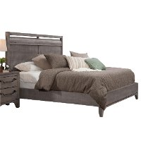 Clearance Rustic Contemporary Gray 5 Piece King Bedroom Set - Bohemian