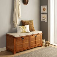 CF6009-WO Warm Oak Entryway Bench - Alder