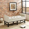 CF6013-CR Cream Upholstered Bench - Claremont