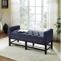 CF6013-NV Navy Upholstered Bench - Claremont
