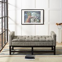 CF6013-SH Shadow Gray Upholstered Bench - Claremont