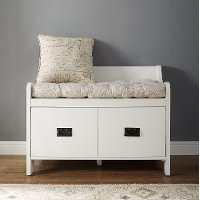 CF6017-WH Distressed White Entryway Bench - Fremont