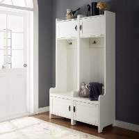 KF60004WH Distressed White Entryway Tower (Set of Two) - Fremont