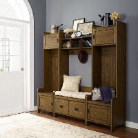 KF60006CO Coffee 4 Piece Entryway Wall Unit - Fremont