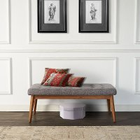 CF6019-AC Brown and Gray Upholstered Bench - Landon