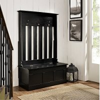 CF6001-BK Black Entryway Storage Bench - Ogden