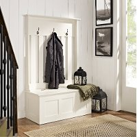 CF6001-WH White Entryway Storage Bench - Ogden
