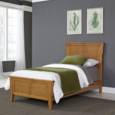 Classic Mission Oak Twin Bed - Arts & Crafts | RC Willey Furniture ...