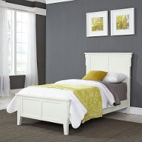 Classic Mission White Twin Bed - Arts & Crafts