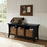 CF6002-BK Black Entryway Storage Bench - Wallis