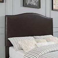 CF90004-501BR Contemporary Brown Full-Queen Upholstered Headboard - Bellingham