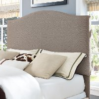 CF90004-501OL Contemporary Oatmeal Full-Queen Upholstered Headboard - Bellingham