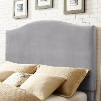 CF90004-501SL Contemporary Gray Full-Queen Upholstered Headboard - Bellingham