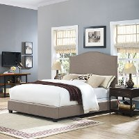KF705004OL Contemporary Oatmeal Queen Upholstered Bed - Bellingham