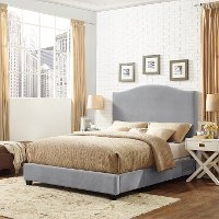 KF705004SL Contemporary Gray Queen Upholstered Bed - Bellingham