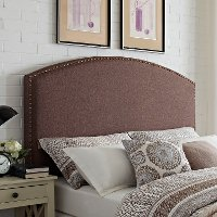 CF90008-501BO Classic Brown Upholstered Full-Queen Headboard - Cassie