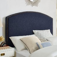 CF90008-601NV Classic Navy Upholstered King Headboard - Cassie