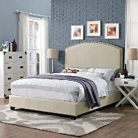 KF705008CR Classic Creme Queen Upholstered Bed - Cassie