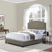 KF705008SH Classic Shadow Gray Queen Upholstered Bed - Cassie