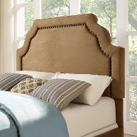 CF90009-601CM Classic Camel Brown King Upholstered Headboard - Loren