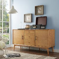CF1107-AC Mid-Century Modern Acorn Brown Console Table - Landon