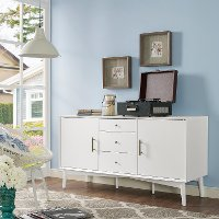CF1107-WH Mid Century Modern White Console Table - Landon