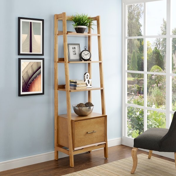 CF1109 AC Small Modern Brown Bookcase