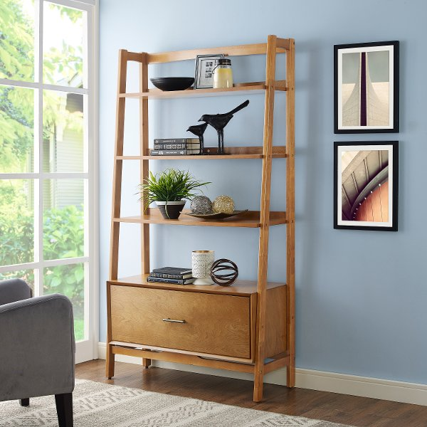 CF1110 AC Large Modern Brown Bookcase