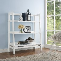 CF1111-WH Wide Modern White Bookcase - Landon
