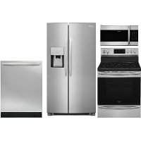 KIT Frigidaire Gallery 4 Piece Kitchen Appliance Package with Electric Range - Stainless Steel