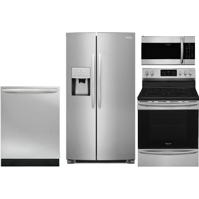 kit frigidaire gallery 4 piece kitchen appliance package with electric range   stainless steel frigidaire gallery 4 piece kitchen appliance package with electric      rh   rcwilley com