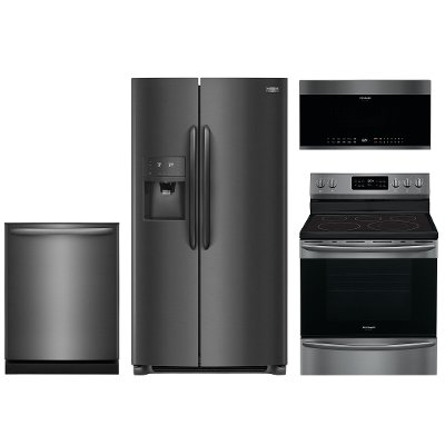 kit frigidaire gallery 4 piece kitchen appliance package with electric range   black stainless steel frigidaire gallery 4 piece kitchen appliance package with electric      rh   rcwilley com
