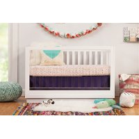 Clearance Modern White and Acrylic 3-in-1 Convertible Crib - Harlow