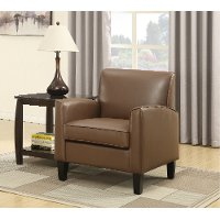 Brown Transitional Accent Chair - Harriet