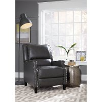 Charcoal Gray Push Back Recliner - Alston
