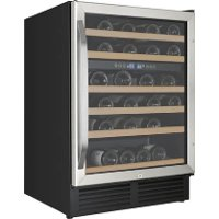 WCR496DS Avanti 49 Bottle Wide Built-In Dual Zone Wine Chiller - 24 Inch Stainless Steel and Black