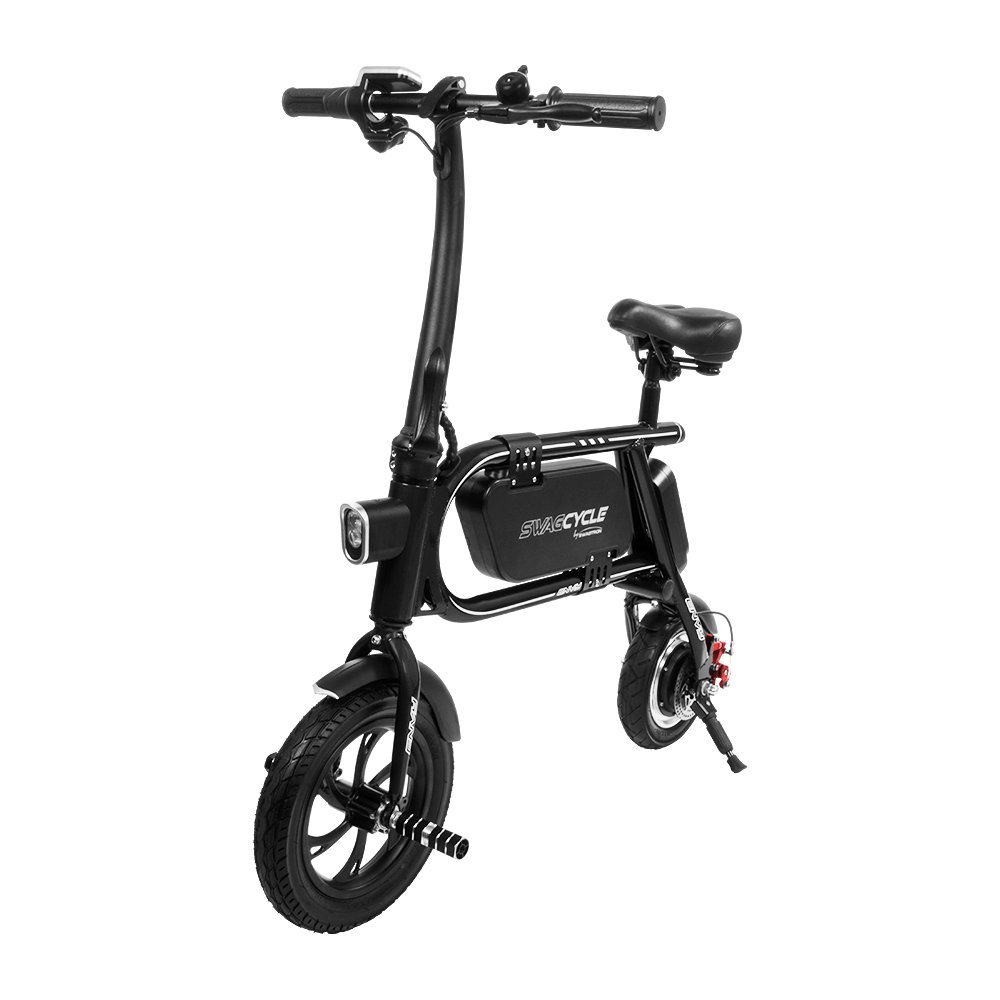 SWAGCYCLE Envy Steel Frame Folding Electric Bicycle - Black | RC ...