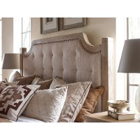 Rachel Ray Home Sunbleached King Upholstered Bed - Monteverdi